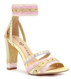 Katy Perry Kai Suede Patterned Sandals