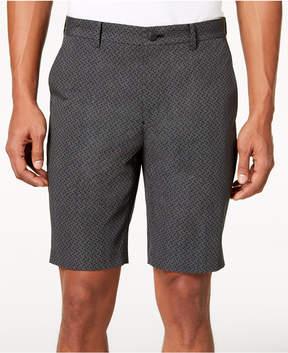 Alfani Men's Geometric Dobby Flat-Front 9.5 Shorts, Created for Macy's