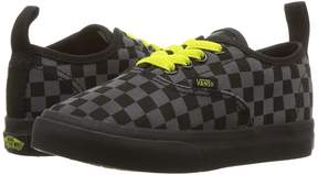 Vans Kids Authentic Elastic Lace Asphalt/Reflective) Boys Shoes