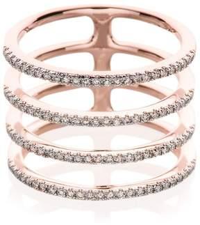 Ef Collection Women's Diamond & 14K Rose Gold Multi Spiral Midi Ring
