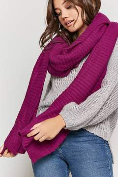 Forever 21 Ribbed Knit Oblong Scarf