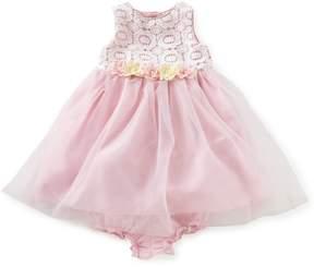 Laura Ashley London Baby Girls 12-24 Months Lace/Sheer-Overlay Ballerina Dress