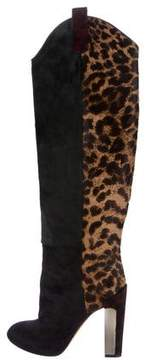 Brian Atwood Ponyhair Knee-High Boots