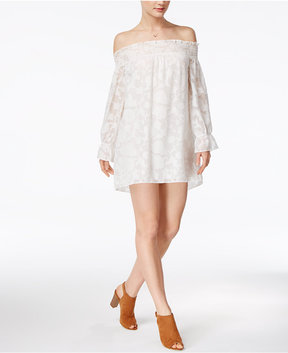 Bar III Textured Off-The-Shoulder Dress, Created for Macy's