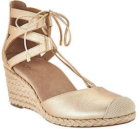 Vionic Lace-up Wedge Espadrilles -Calypso