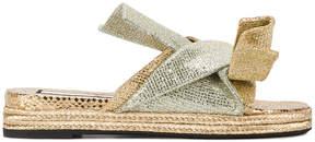 No.21 glitter embellished sandals