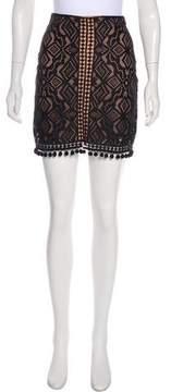 For Love & Lemons Embroidered Mini Skirt w/ Tags
