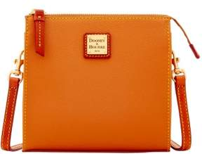 Dooney & Bourke Eva North South Janine Crossbody Shoulder Bag - CARAMEL - STYLE