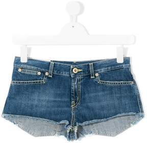 Dondup Kids frayed denim shorts