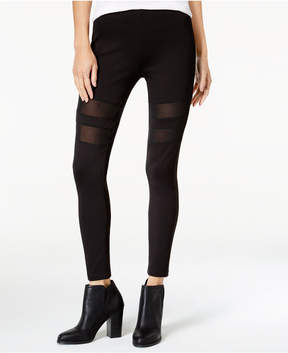 Celebrity Pink Juniors' Sheer-Inset Leggings