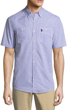U.S. Polo Assn. USPA Short Sleeve Button-Front Shirt