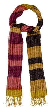 Dries Van Noten Metallic Striped Scarf