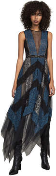 BCBGMAXAZRIA Rebecka Asymmetrical Lace Dress