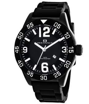 Oceanaut Aqua One OC2710 Men's Round Black Silicone Watch