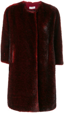 Alberto Biani faux fur collarless coat
