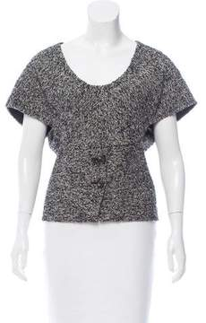 Behnaz Sarafpour Tweed Wool Top