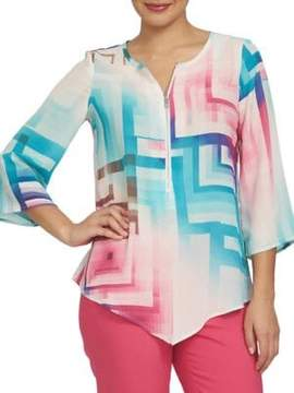 Chaus Electric Sunset Ombre Prism Top