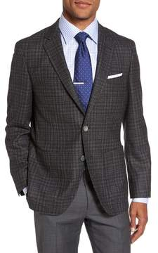 BOSS Men's Janson Trim Fit Plaid Wool Sport Coat