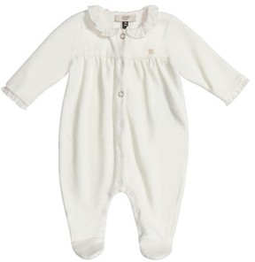 Armani Junior Infant Girl's Ruffle Collar Footie