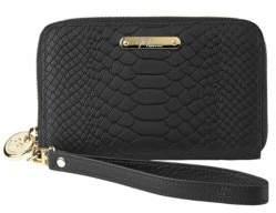GiGi New York Python Embossed Leather Zipped Phone Wallet