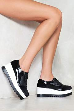 Nasty Gal nastygal Layer Down the Law Platform Sneaker