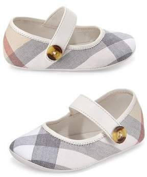 Burberry Baldwyn Check Mary Jane, Heritage Stone, Infant