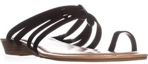 Bar III B35 Vanita Flat Ring-toe Sandals, Black.