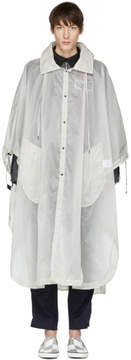 Lanvin White Transparent Hooded Coat