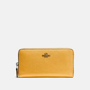 COACH Coach Accordion Zip Wallet - DARK GUNMETAL/YELLOW GOLD - STYLE