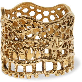 Aurelie Bidermann Lace Gold-plated Ring