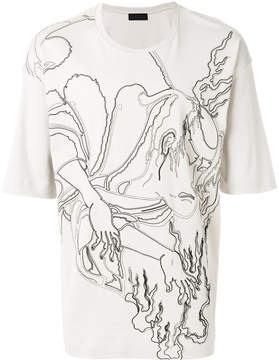 Diesel Black Gold Titan Flame T-shirt