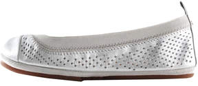 Yosi Samra Scarlet Perforated Ballet Flat