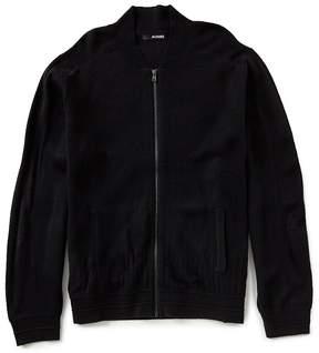 Murano Textured Full-Zip Sweater