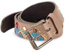 Giuseppe Zanotti Western Style Leather Belt