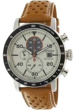 Citizen Men's Eco-Drive CA0641-16X Silver Leather Japanese Quartz Diving Watch
