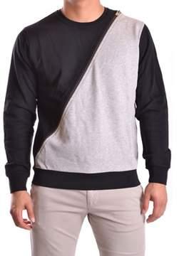 Les Hommes Men's Grey/black Cotton Sweatshirt.