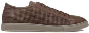 Alberto Guardiani Tobacco Tudor Leather Sneakers