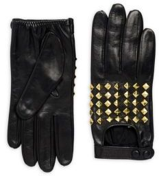 Portolano Stud Leather Gloves