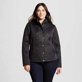 Ava & Viv Women's Plus Size Quilted Jacket With Ribbing
