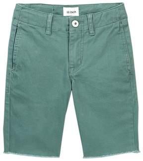 Hudson Raw Hem Sateen Chino Shorts (Big Boys)