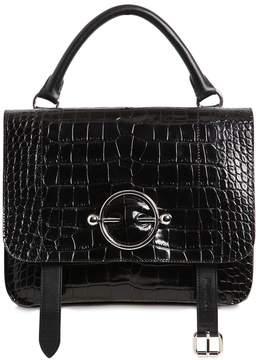 J.W.Anderson Disc Satchel Croc Embossed Leather Bag