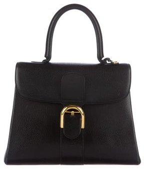 Delvaux Pebbled Leather Top Handle Bag