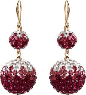 Amrita Singh Pink Austrian Crystal Ombre Drop Earrings