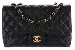 Chanel Quilted Caviar Jumbo Classic Single Flap Bag