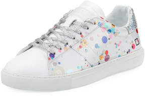 D.A.T.E Newman Laminated Low-Top Sneakers