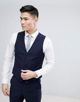 French Connection Birdseye Weave Slim Fit Vest