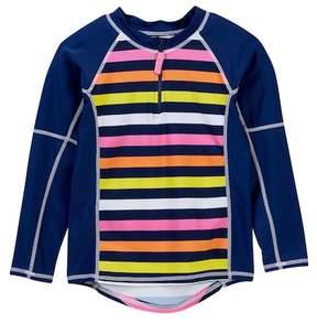 Toobydoo Striped Rashguard (Toddler, Little Girls, & Big Girls)