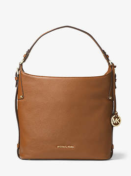 Michael Kors Bedford Large Leather Shoulder Bag - BROWN - STYLE