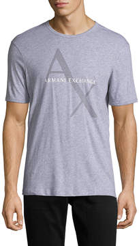 Armani Exchange Men's Solid Cotton Tee
