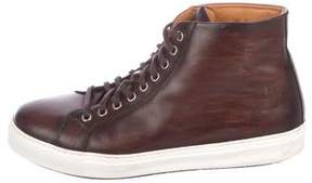 Magnanni Leather High-Top Sneakers